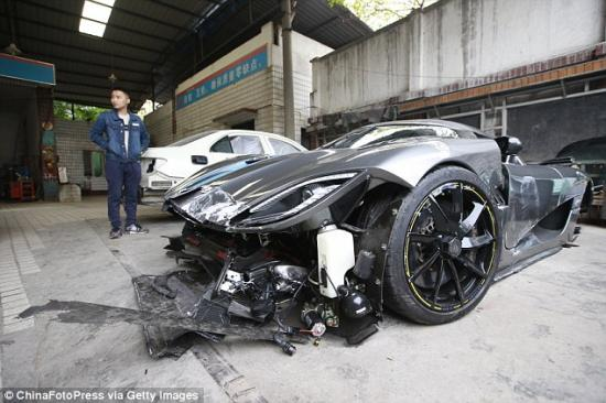Siêu xe Koenigsegg Agera  tai nạn 1