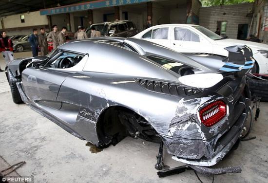 Siêu xe Koenigsegg Agera  tai nạn 2