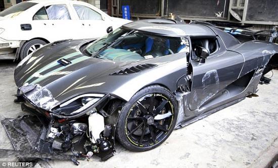 Siêu xe Koenigsegg Agera  tai nạn 3