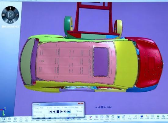 thử nghiệm va chạm ô tô máy tính