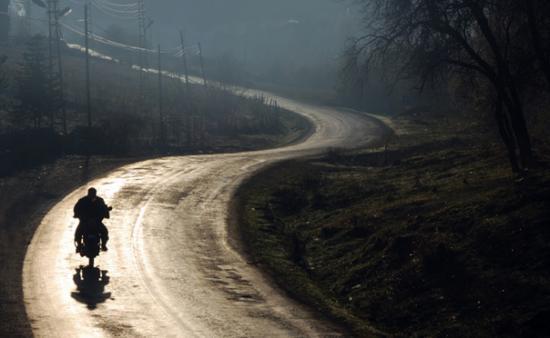 Đi xe máy mùa đông