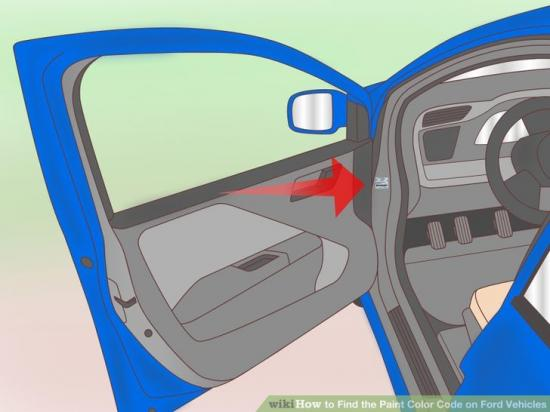 Đọc mã màu sơn xe Ford 2