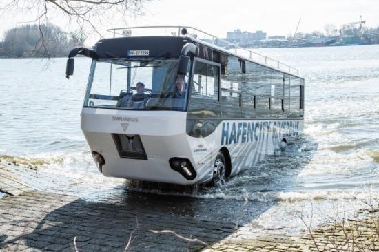 Xe bus lội nước đầu tiên tại Đức