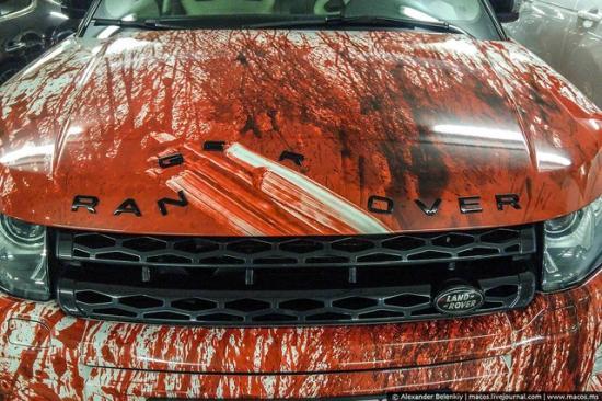 Range Rover Evoque hóa trang ngày Halloween 2