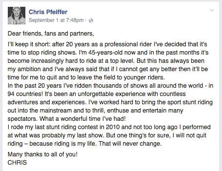 Huyền thoại Stunt- Chris Pfeiffer giải nghệ 2