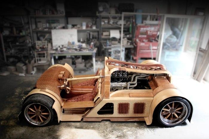 Ô tô làm bằng gỗ 2