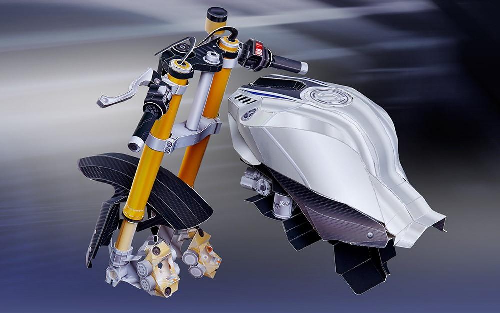 Yamaha YZF-R1M bằng giấy 22