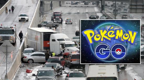 Gây tai nạn liên hoàn trên đường cao tốc vì mải bắt Pokemon