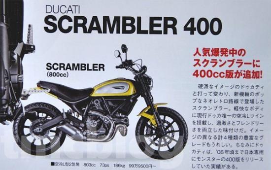 Ducati scrambler 400 A3