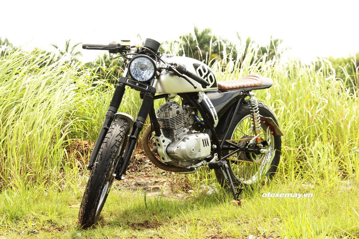 "Cafe Racer Suzuki GN125 kiểu mới giá ""sinh viên"" _22"