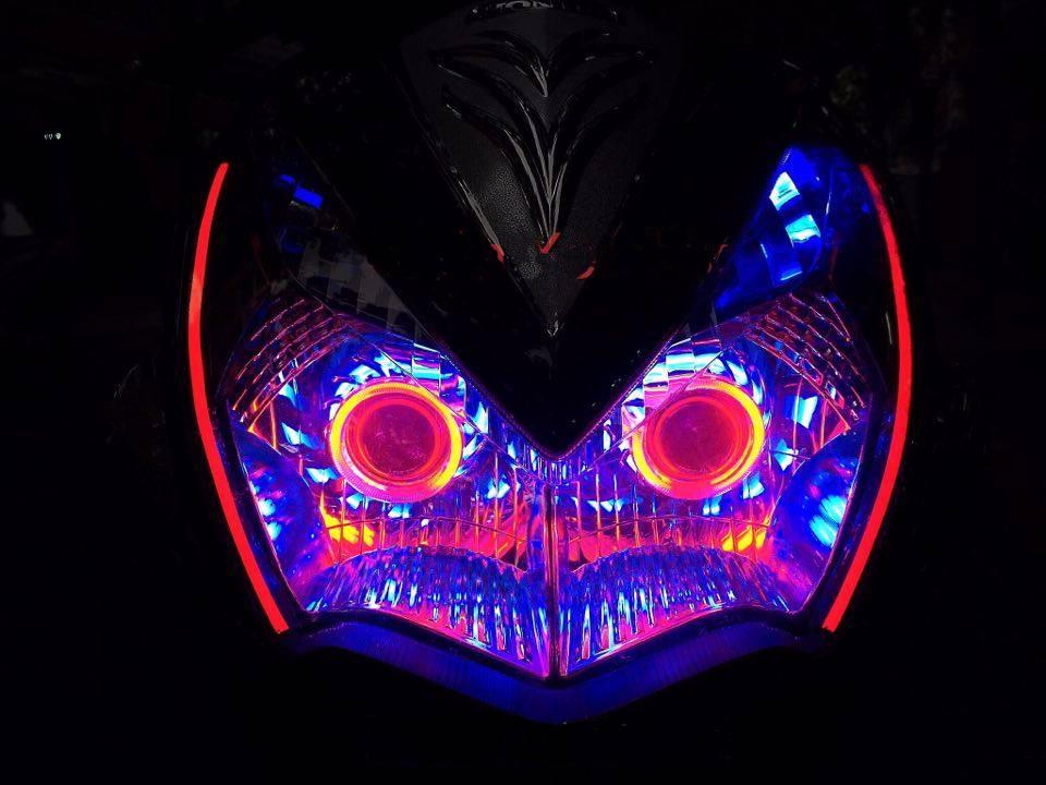 Air Blade đậm chất chơi với đèn pha gương cầu LED – mắt thiên thần_1