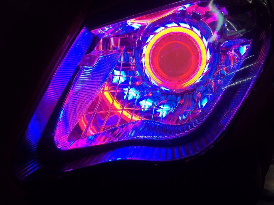 Air Blade đậm chất chơi với đèn pha gương cầu LED – mắt thiên thần_6