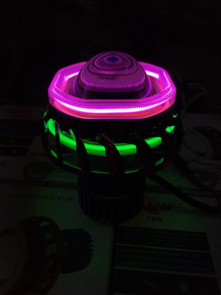 Air Blade đậm chất chơi với đèn pha gương cầu LED – mắt thiên thần_2