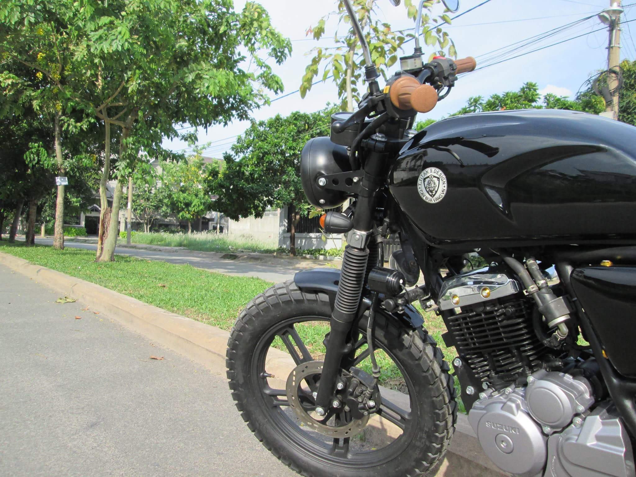 Thú vị nakedbike Suzuki EN 150 độ Tracker tại Sài Gòn_6